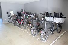 自転車置場はすべて屋内